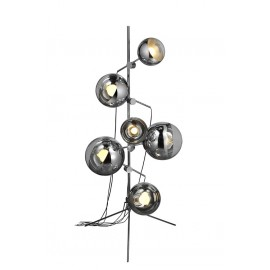 Mirror ball tripod floor lamp