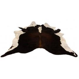Tapis salon en peau de vache - Brun, Blanc & Noir