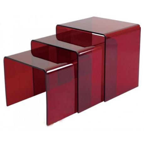 Set de 3 tables gigognes en acrylique
