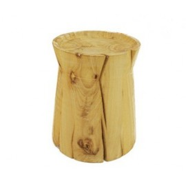 Rondin side table stool solid wood