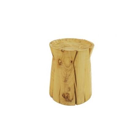 Table d'appoint design Rondin bois massif