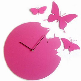 Horloge design BUTTERFLY-papillon CLOCK