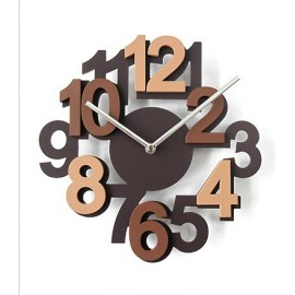 Algo wall clock in wood