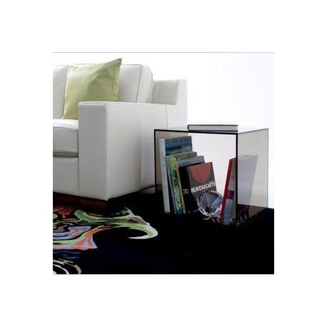 Porte-revue table d'appoint design en cube