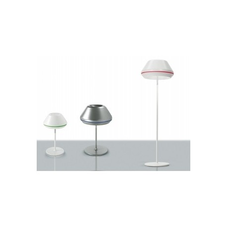 Spool table lamp