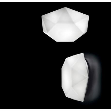 Diamond cut wall or ceiling lamp