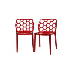 Chaise design honeycomb Lot de 2