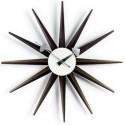 Horloge Nelson Sunburst Noyer