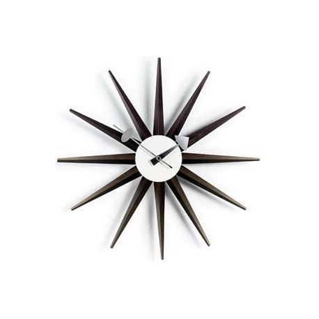 Horloge Nelson Sunburst Clock Walnut