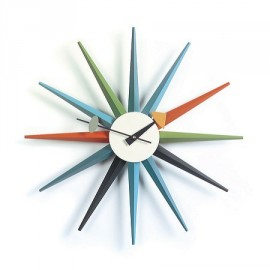 Nelson Surburst Clock Multi-colored
