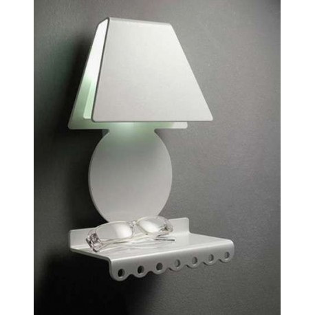 Sognibelli wall lamp with shelf