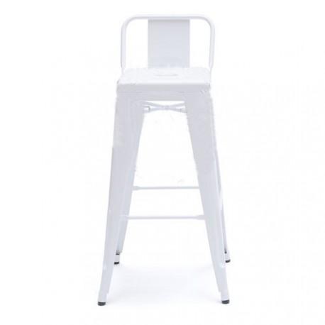 Chaise de bar design Tolix H75cm petit dossier