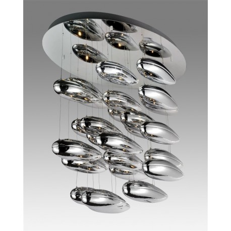 Plafonnier design Mercury cluster