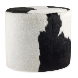 Cowhide Ottoman Round Stool
