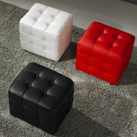 4 Tufted Cube stool Ottoman
