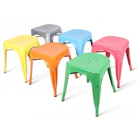 Tabouret design Tolix H45cm Lot de 2