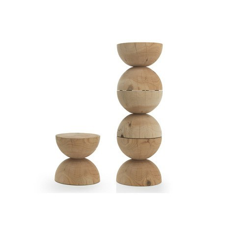 Clessidra stool in solid wood