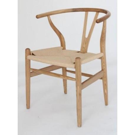 Chaise design Wegner Wishbone CH24 Y en chêne