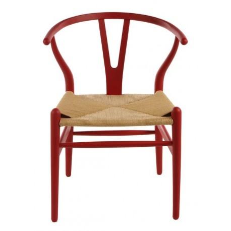 Chaise design Wegner Wishbone CH24 Y en hêtre