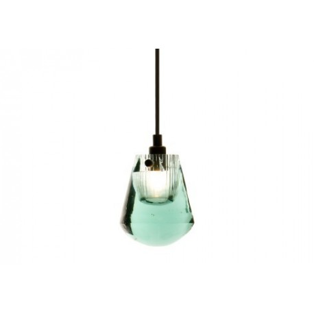 Pressed Glass in color pendant lamp
