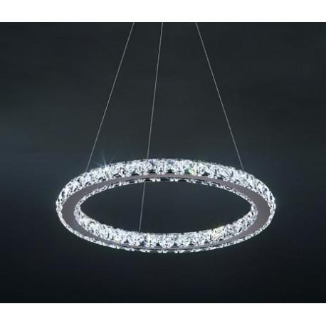Circle crystal LED Pendant lamp 1 ring