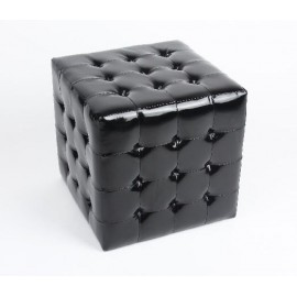 9 Glossy Tufted Cube stool Ottoman