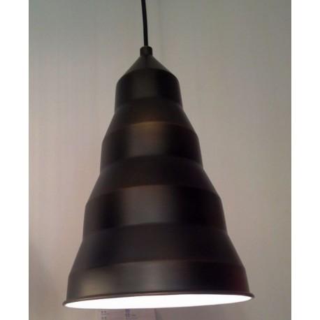 Step pendant lamp in black
