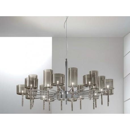 Spillray chandelier 20 lights round
