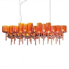 Spillray chandelier 26 lights rectangular
