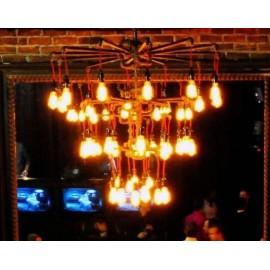 Industrial Iron Pipe Chanderlier 3 tier 30 Bulb