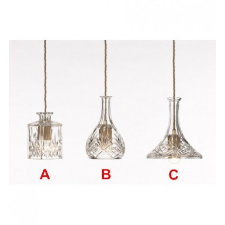 Decanter pendant lamp