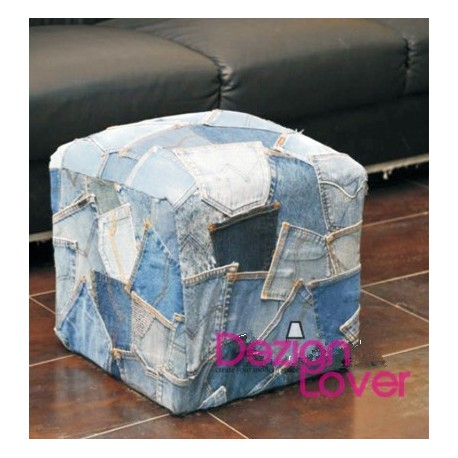 Denim Jeans pockets stool Ottoman