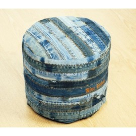 Denim Jeans Strip stool Ottoman