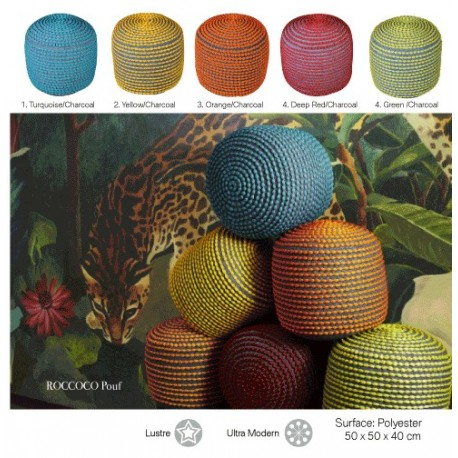 Roccoco knitted pouf ottoman