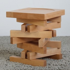 Jenga stool solid wood