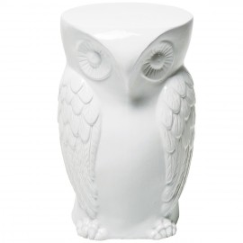 Owl ceramic stool