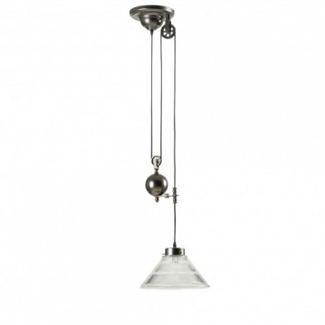 Pulley Single Pendant Lamp With Edison Bulbs By Pottery