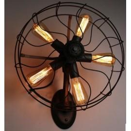 Applique design industriel rétro ventilateur avec ampoule edison