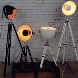Lampadaire design projecteur Hollywood cinéma