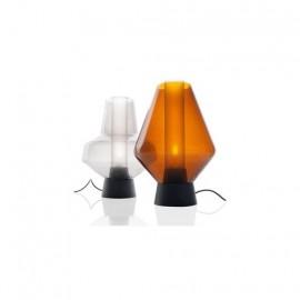 Metal glass table lamp