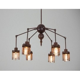 Chandelier design industriel spider