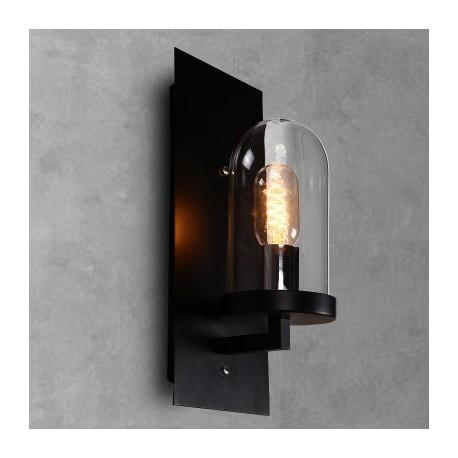 Applique design industriel rétro dome avec ampoule edison