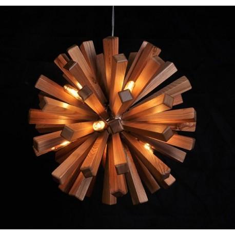 Firework wooden pendant lamp