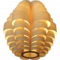 Glow wooden pendant lamp