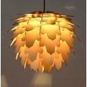 Leaf pinecone pendant lamp
