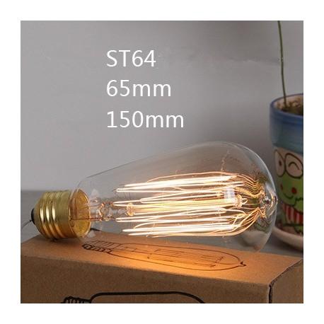 Ampoule décorative Edison à filament ST64