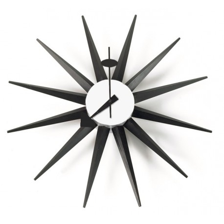 Nelson Surburst Clock Black