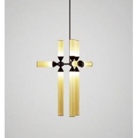 Chandelier suspension LED design Castle 9 lampes