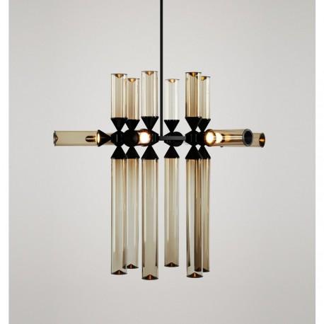 Chandelier suspension LED design Castle 18 lampes