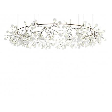 Chandelier Lustre LED design Heracleum The Big O forme ovale